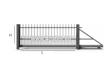 Sliding gate LUX MODERN with built-in automatics